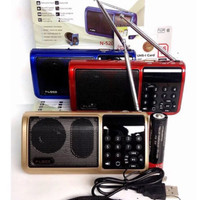Portable Radio 3 Band Fm Am Sw Bisa Usb Tf Card Mp3 Speaker Fleco