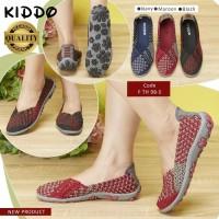 Sepatu Anyaman Kiddo Flat F TH 98 5 PREMIUM IMPORT Wanita Rajut Origi