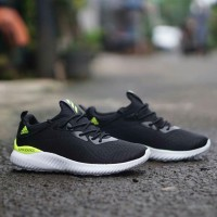 Sepatu sneakers adidas alphabounce hitam hijau men cowok pria 40-44