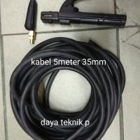 STANG LAS SET - KABEL MESIN LAS 35MM 5METER / KABEL TRAVOLAS