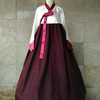 Hanbok baju adat / tradisional korea polos hambok hanbook