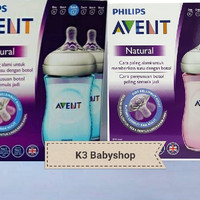 Philips Avent Natural 2.0 Twin pack 260ml 260 Pink Blue Botol Susu