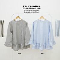 Baju Atasan Tunik Lala Blouse Muslim Blus Gamis Fashion Wanita Jumbo