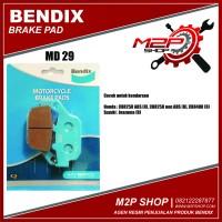 Kampas Rem Bendix MD29 u/ CBR 250 Non ABS,CBR 250 ABS, Inazuma - Rear