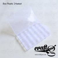 Box Plastic Kecil 24sekat (Kotak Plastik/Tempat Mote/Bahan Aksesoris)
