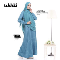 Baju Muslim Gamis Syari Gamis Katun Busui Polos Ori Ukhti Size S-L