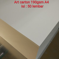 Kertas art carton/art paper 190 gsm isi 50 lembar A4