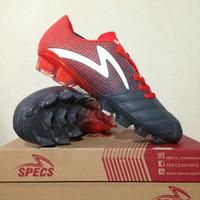 Sepatu Bola Specs Equinox FG Dark Granite Red 100821 Original BNIB
