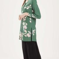 Atasan Tunik Batik Madha Blooming Green - Hijau, L