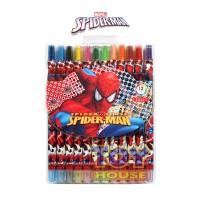 Crayon Putar Spiderman 12 Warna - Pensil Warna