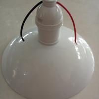 GROSIR Kap lampu gantung fitting + kap mangkok fiting lampu gantung