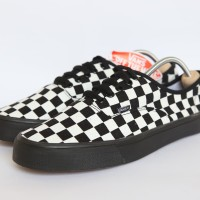 Sepatu Vans Checker Board Putih Sol Hitam Premium Quality - Hitam, 36