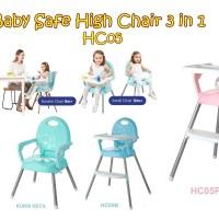 MAK58 BABY SAFE HIGH CHAIR 3 IN 1 HC05 KURSI MAKAN ANAK