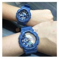 Jam Tangan Couple Casio Baby-G G-SHOCK Denim Blue Original ORI BM