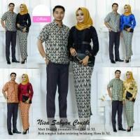 Baju Wanita Couple Batik Nisa Sabyan Bahan Brukat Premium