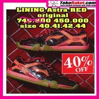 LINING ASTRA RED original. size sesuai foto. sepatu ba Murah
