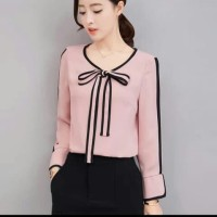 [Blouse Yuni RO] blouse wanita twiscone dusty pink