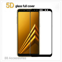 Anti gores kaca/Tempered Glass 5D FULL Cover SAMSUNG galaxy A8 2018 Nw