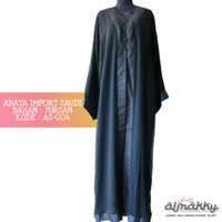 Abaya Impor Arab Saudi (AS-004) Dress Islami Hijab Fashion Hijaber