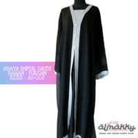 Abaya Impor Arab Saudi (AS-002) Dress Islami Hijab Fashion Hijaber