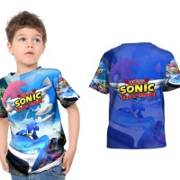 Kaos Baju Anak Fullprint Custom SONIC TEAM RACING