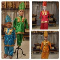 Baju padang anak // baju adat padang Lk/Pr S - M - Merah, LAKI S