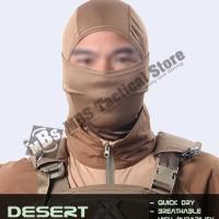 High Durability Balaclava Kualitas Impor Masker Quick Dry - Desert