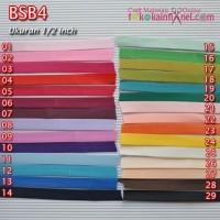 BSB4 Bisban Polos Bahan Satin uk 1/2 Inch Panjang 3 Yard