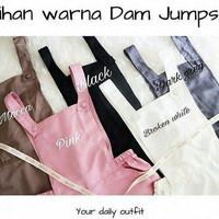 Jumpsuit celana kodok wanita jamsuit jumsuit polos jumper anak remaja