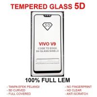Vivo V9 full screen curved anti gores kaca 3D 4D TG TEMPERED GLASS 5D