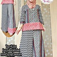 Batik setelan baju dan celana kulot motif batik jumbo ORI