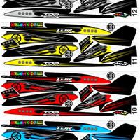 Sticker / Striping Variasi Racing Mio Sporty / Mio Cw / Mio Smile