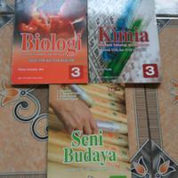 buku biologi dan kimia kelas 12 dan seni budaya kelas 10 Erlangga harg