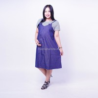 Baju Hamil Menyusui Dress Overall Pita Inner Salur - HO 76