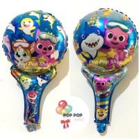 Balon Foil Tongkat / Pentung / Pentungan Karakter Anak Baby Shark