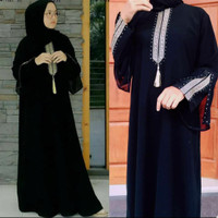 Abaya / Gamis Dress Dubai Heidy Saudi Jetblack