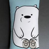 Bantal Sofa / bantal dekorasi We Bare Bears - Ice Bear Sit