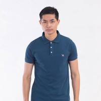 MON AKITA - Francois Men Polo Shirt Navy - Kaos Polo Biru Tua Pria