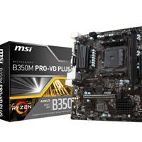 MSI B350M Pro VD Plus (AM4, AMD Promontory B350, DDR4, USB3.1, SATA3)