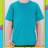 Kaos polos anak hijau tosca - Oblong polos hijau tosca