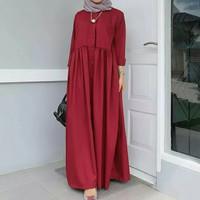 Maxi gamis dress baju wanita muslim maxy polos terusan santai simpel