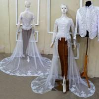 Kebaya Pengantin Ekor Couple Baju Akad Free Rok Wiru Selop 2 pasang