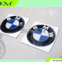 emblem logo lambang timbul karet motor mobil bmw kecil