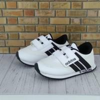 Sepatu anak murah adidas putih garis hitam