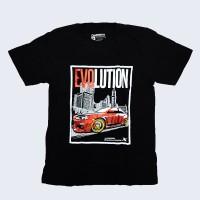Kaos T-Shirt Distro JDM Racing EVOLUTION Black Series