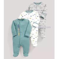 Mamas & Papas Sleeping Suit Three Car / Jumper Tidur / sleepsuits bayi