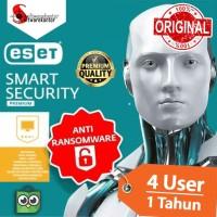 Antivirus ESET SMART SECURITY PREMIUM - 1 TAHUN 4 PC ORI | MURAH