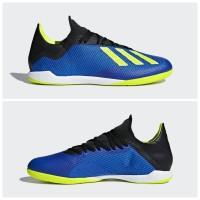 Sepatu Futsal Adidas X Tango 18.3 Blue Sollar Yellow DB1954 Original