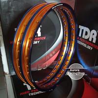 Velg TDR Wx Shape Two Tone Set Ring 17 x 140 / 140 warna Blue Gold