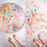 Balon isi confetti / Balon Transparant Plastik Elastis Bening PVC